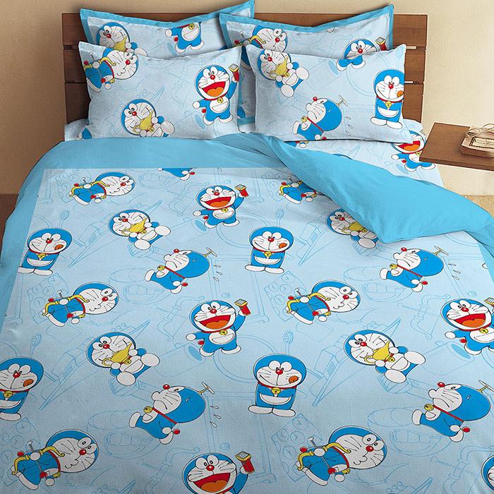 【享夢城堡】哆啦A夢 我的法寶系列-單人三件式床包涼被組