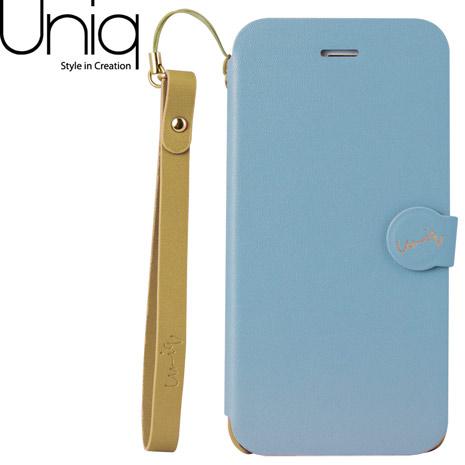 Uniq Lolita iPhone 6/6s皮套(附手腕繩)-粉藍