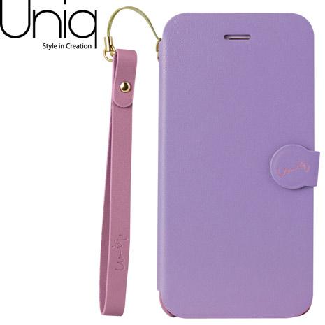 Uniq Lolita iPhone 6/6s皮套(附手腕繩)-粉紫