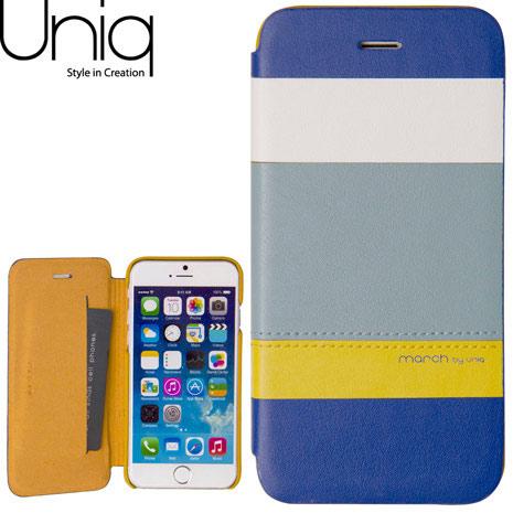 Uniq March iPhone 6/6s 4.7吋真皮皮套-沁藍微風