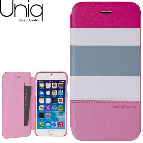 Uniq March iPhone 6/6s 4.7吋真皮皮套-粉紅派對