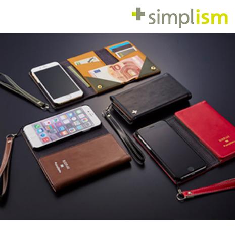 Simplism iPhone 6 Plus / 6s Plus (5.5吋) 皮夾式側翻保護套 / 皮套 (日本品牌)黑色