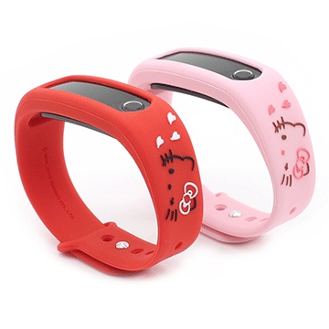 GARMMA X LIIGAR Hello Kitty 智慧手環 搭配紅、粉兩色環帶