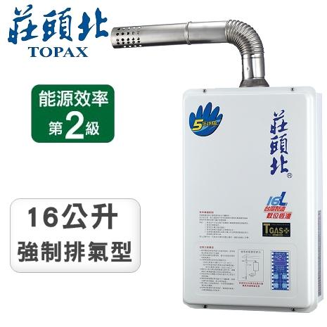莊頭北16L微電腦數位強制排氣型熱水器TH-7167AFE(LPG)液化