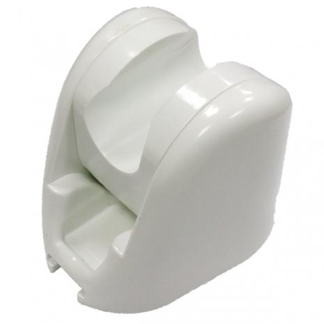 春佰億《魔特萊》免鑽孔專利10段可調角度蓮蓬頭掛鉤〈白2入〉