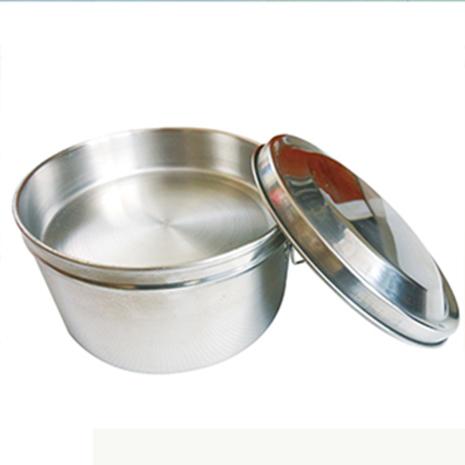 派樂正304不鏽鋼圓形14cm雙層便當盒(五件式1入)│雙扣環│省力│好蓋│衛生│附菜盤飯盒│贈湯碗湯匙