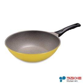 派樂-韓國進口Kitchen Art 鈦石鍋 不沾鍋(28cm炒鍋含鍋蓋) 鈦晶炒菜鍋 煎烤鍋