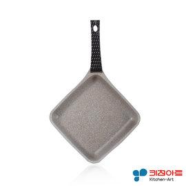 派樂-韓國進口Kitchen Art 鈦石鍋 不沾鍋(直徑16cm菱形平煎鍋) 鈦晶炒鍋 平底鍋