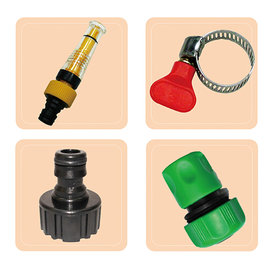 魔特萊-透明加壓水槍配件包(4件式)含蓮蓬頭水管轉接頭 清潔洗車澆花