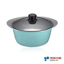 【派樂】韓國Kitchen Art時尚鈦晶石湯鍋(24cm附玻璃鍋蓋) 可燉全雞深湯鍋