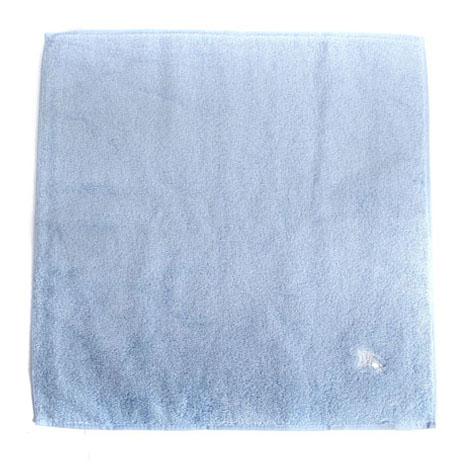 BURBERRY素面高爾夫球小方巾-水藍色
