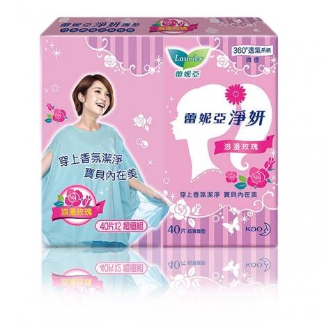 蕾妮亞 淨妍護墊 浪漫玫瑰微香(40片x2包)/組(7333)