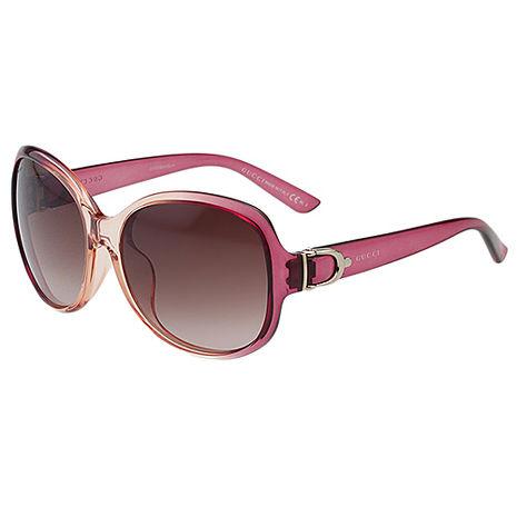 GUCCI-扣環系列 太陽眼鏡(漸層紫+嫩橘)