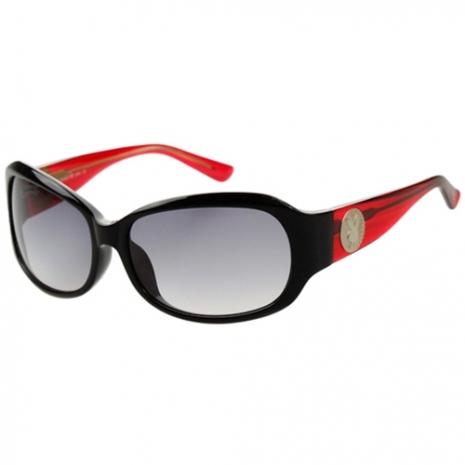 PLAYBOY-時尚太陽眼鏡(黑框+紅腳)