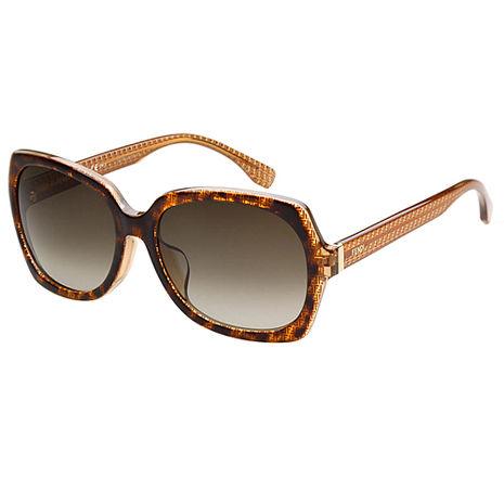 FENDI 時尚太陽眼鏡(琥珀色)
