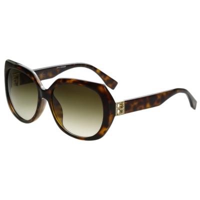 FENDI 東方版-時尚太陽眼鏡 (琥珀色)