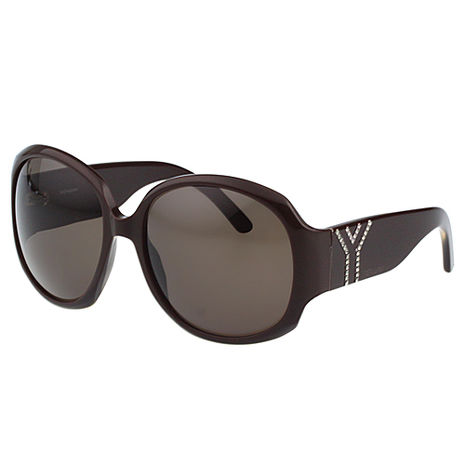 YSL-時尚太陽眼鏡(咖啡色)