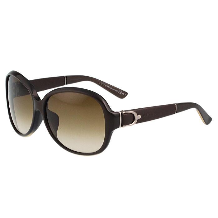 GUCCI-皮帶系列 太陽眼鏡(咖啡色)