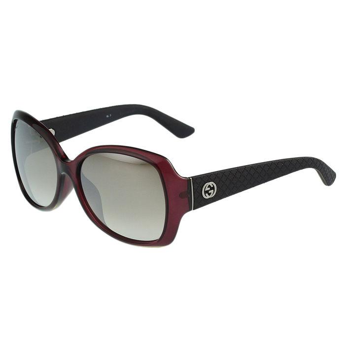 GUCCI- 水銀反光鏡面 太陽眼鏡 (紅色)