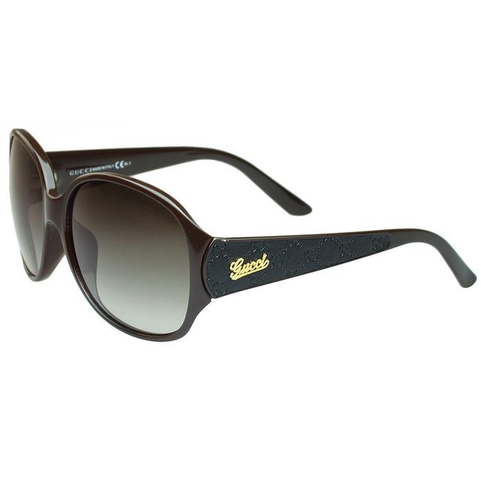 GUCCI 李冰冰代言-logo款時尚太陽眼鏡(圓框/深咖啡)(特賣)