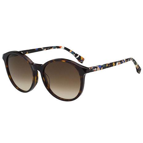 FENDI 復古圓框 太陽眼鏡 (琥珀色) FF0188FS-TTO