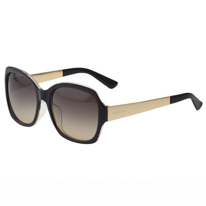 GUCCI-花卉絲巾 太陽眼鏡 (黑色)