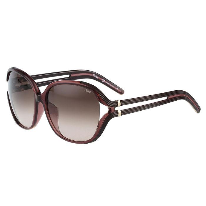 CHLOE 氣質簍空太陽眼鏡 (紫紅框)
