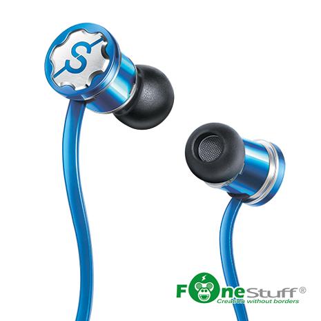Fonestuff Fits 重低音抗噪耳塞式耳機(藍)