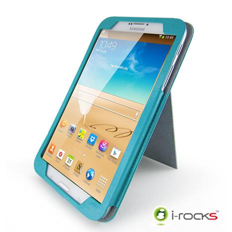 i-rocks Samsung Galaxy Tab3 8.0皮革保護套(藍)
