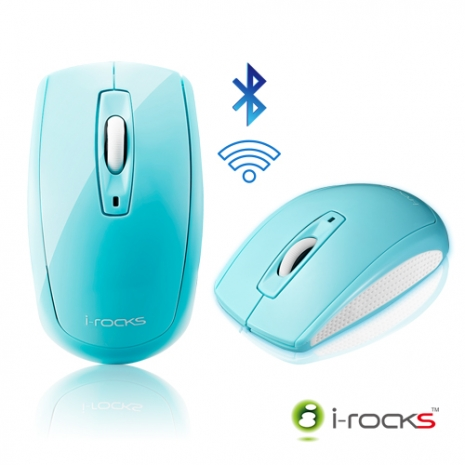 [福利品]i-rocks IRM02B無線藍牙藍光光學滑鼠-3C電腦週邊-myfone購物