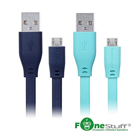 FONESTUFF Micro USB傳輸扁線-30公分