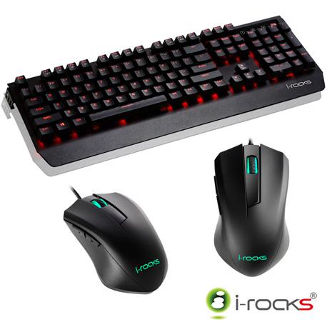 i-Rocks K60M機械式鍵盤(凱華青軸)-黑+M09遊戲滑鼠