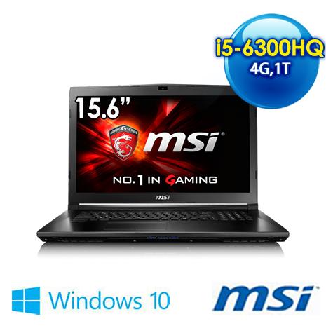 msi GL62 6QF-1611TW-BB5630H4G1T0S1 15.6吋 筆電 (i5-6300HQ/4G/GTX960M2G獨顯/1T/WIN10)