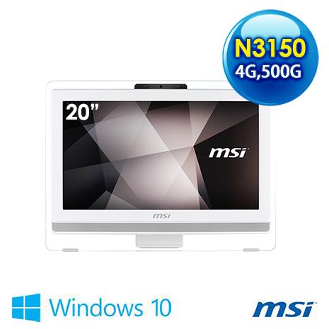 msi Pro 20E 4BW-008TW-WN31504G50S10MANXH 20吋 液晶電腦 (N3150/4G/500G/WIN10)