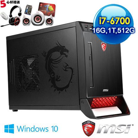 msi Nightblade X2B-204TW-B76700980416G1T0DS10MHL 電競桌機 (i7-6700/16G/GTX980 4G獨顯/512G+1T/WIN10)