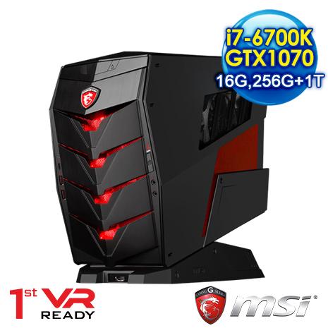 msi Aegis X-032TW-B7670K107816G1T025S10MHL電競專用機(i7-6700K/16G/1T+256SSD/GTX1070) 水冷散熱-數位筆電.列印.DIY-myfone購物