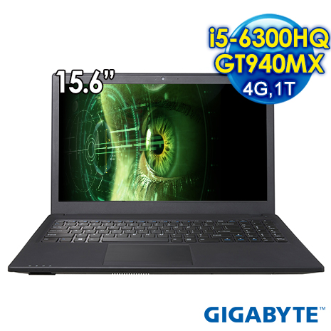 GIGABYTE Q25NV5-2K5630H4GH1DDW10 15.6吋 筆電 (i5-6300HQ/GT940MX/4G/1T/WIN10)