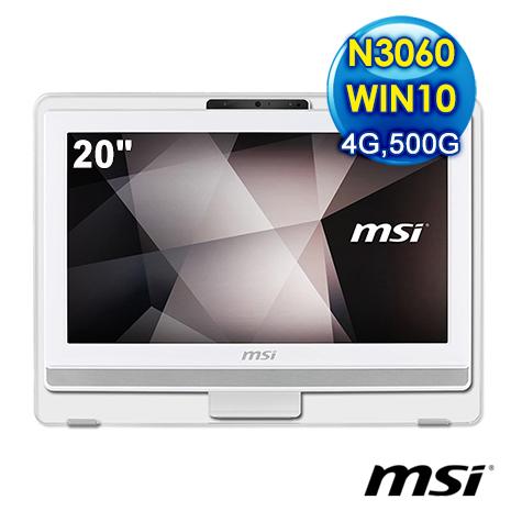 msi Pro 20E 4BW-079TW-WN30604G50S10MANH 液晶電腦 (N3060/4G/500G/WIN10)