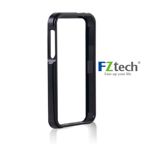 FZtech iPhone 5/5S – iMetal 系列CNC一體成型鋁合金手機保護框 – 質感黑