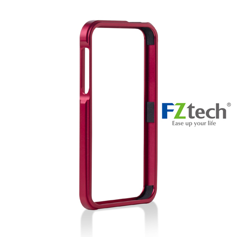 FZtech iPhone 5/5S – iMetal 系列CNC一體成型鋁合金手機保護框 – 魔力紅
