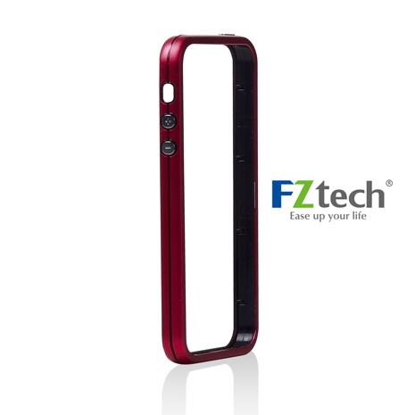 FZtech iPhone 5/5S – iMetal 系列 輕量無感 優質鋁合金手機保護框 – 紅莓色