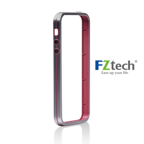 FZtech iPhone 5/5S – iMetal 系列 輕量無感 優質鋁合金手機保護框 – 草莓色