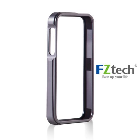 FZtech iPhone 5/5S – iMetal 系列CNC一體成型鋁合金手機保護框 – 內斂灰