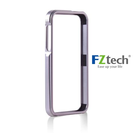 FZtech iPhone 5/ 5S– iMetal 系列CNC一體成型鋁合金手機保護框 – 雪白銀