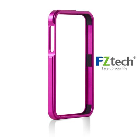 FZtech iPhone 5/5S – iMetal 系列CNC一體成型鋁合金手機保護框 – 亮麗粉