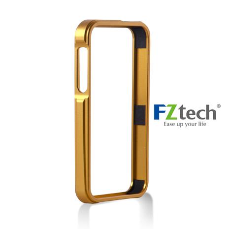 FZtech iPhone 5/5S – iMetal 系列CNC一體成型鋁合金手機保護框 – 亮麗橘