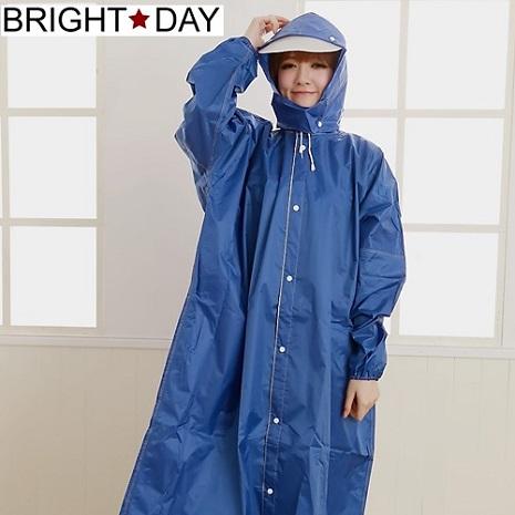 BrightDay風雨衣連身式 - 水漾色彩前開款 寶藍3XL