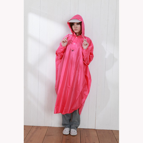 BrightDay風雨衣連身式 - 桑德史東太空款 蜜桃紅XL