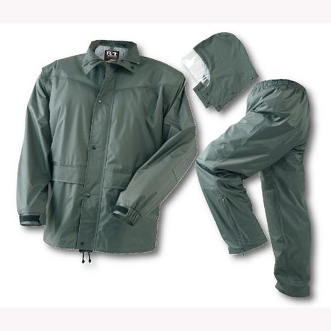BrightDay風雨衣兩件式 - 超人氣日本款 橄欖灰L ╭加贈輕巧型雨鞋套