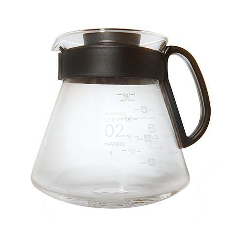 HARIO V60耐熱玻璃壺/2~5杯用/600ml /XVD-60B